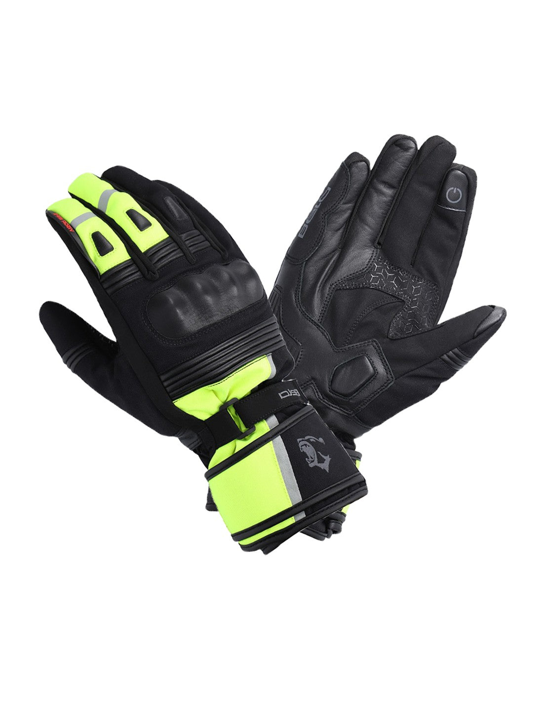 Bela Ice Winter WP Guanti Moto Donna Nero/Giallo Fluor