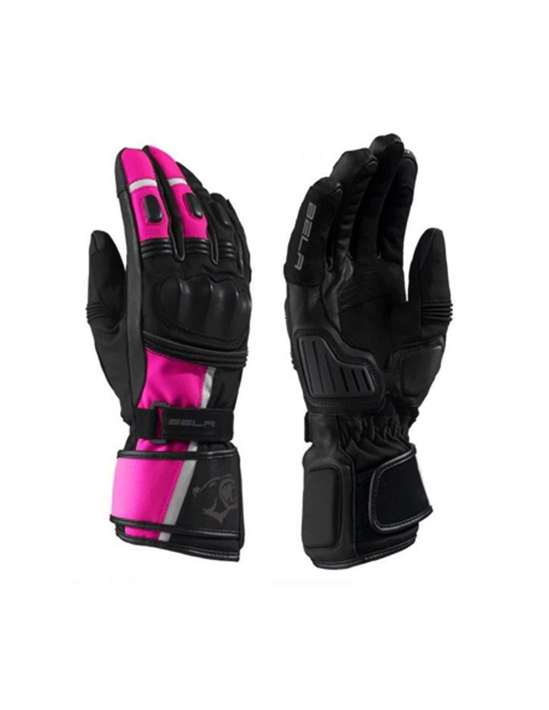 Bela Ice Winter WP Guanti Moto Donna Nero/Rosa