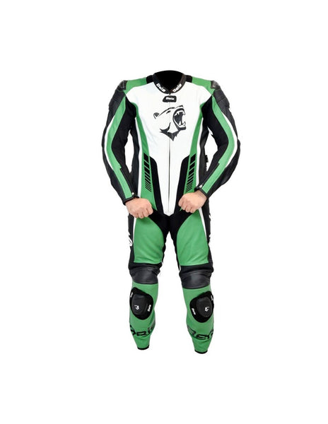 Bela speed star Verde 1PC Tuta da Moto in Pelle