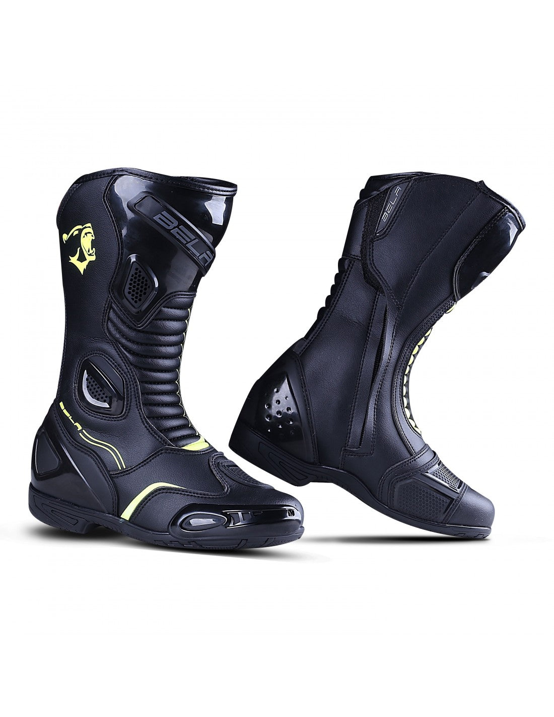 Bela Strip Lady Black Yellow Racing Boot