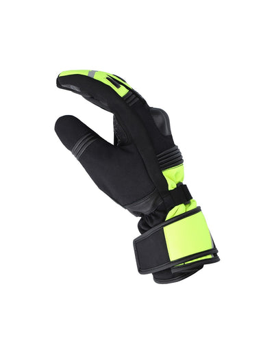 Bela Ice Winter WP Guanti Moto Nero/Giallo Fluor