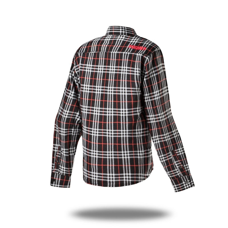 Poisoned High Tech Tartan Check Oxford Kevlar Camicia da Moto per Donna