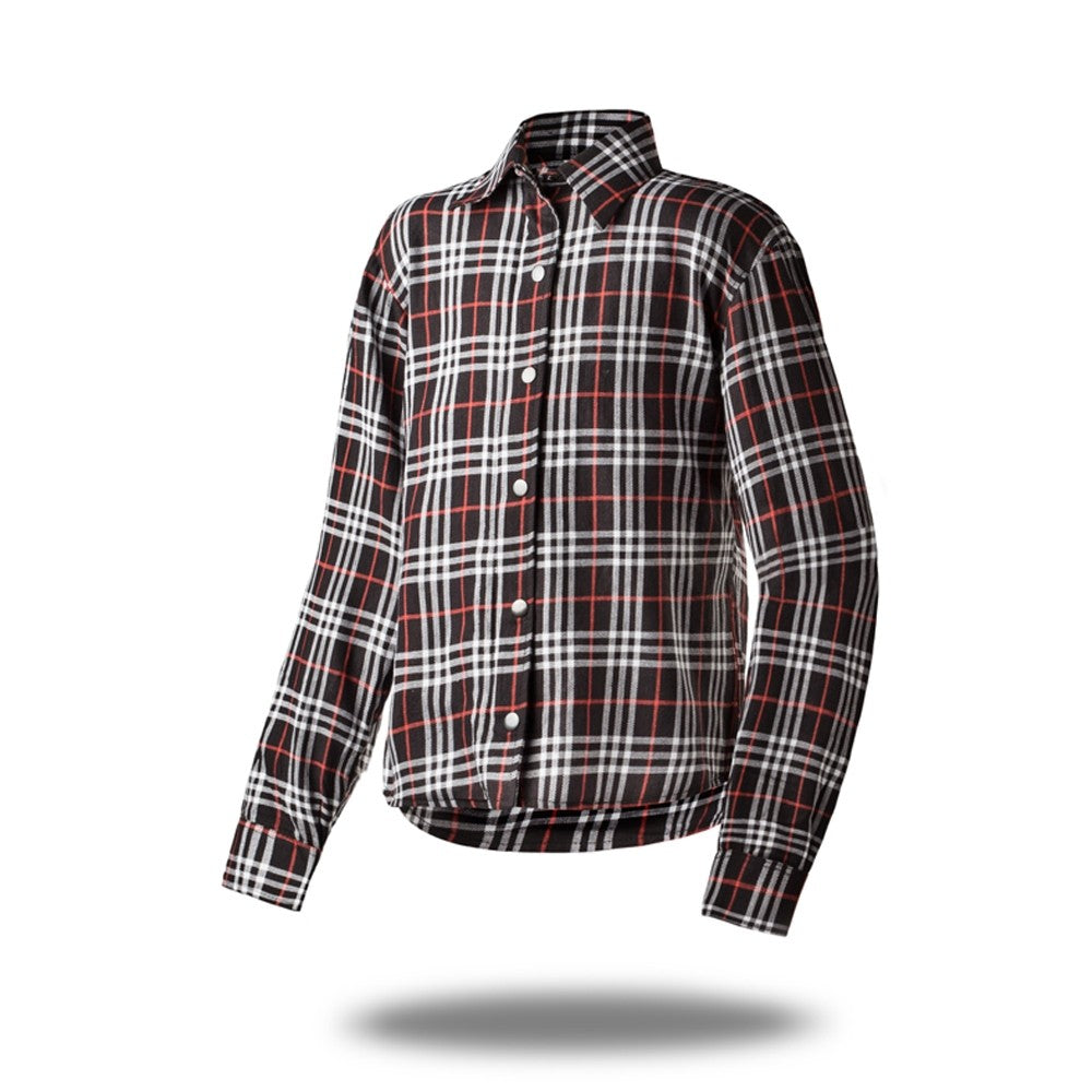 Poisoned High Tech Tartan Check Oxford Kevlar Camicia da moto per uomo