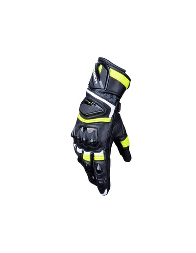 R-Tech Robo Men Nero/Giallo/Flu Guanti da Corsa in Pelle