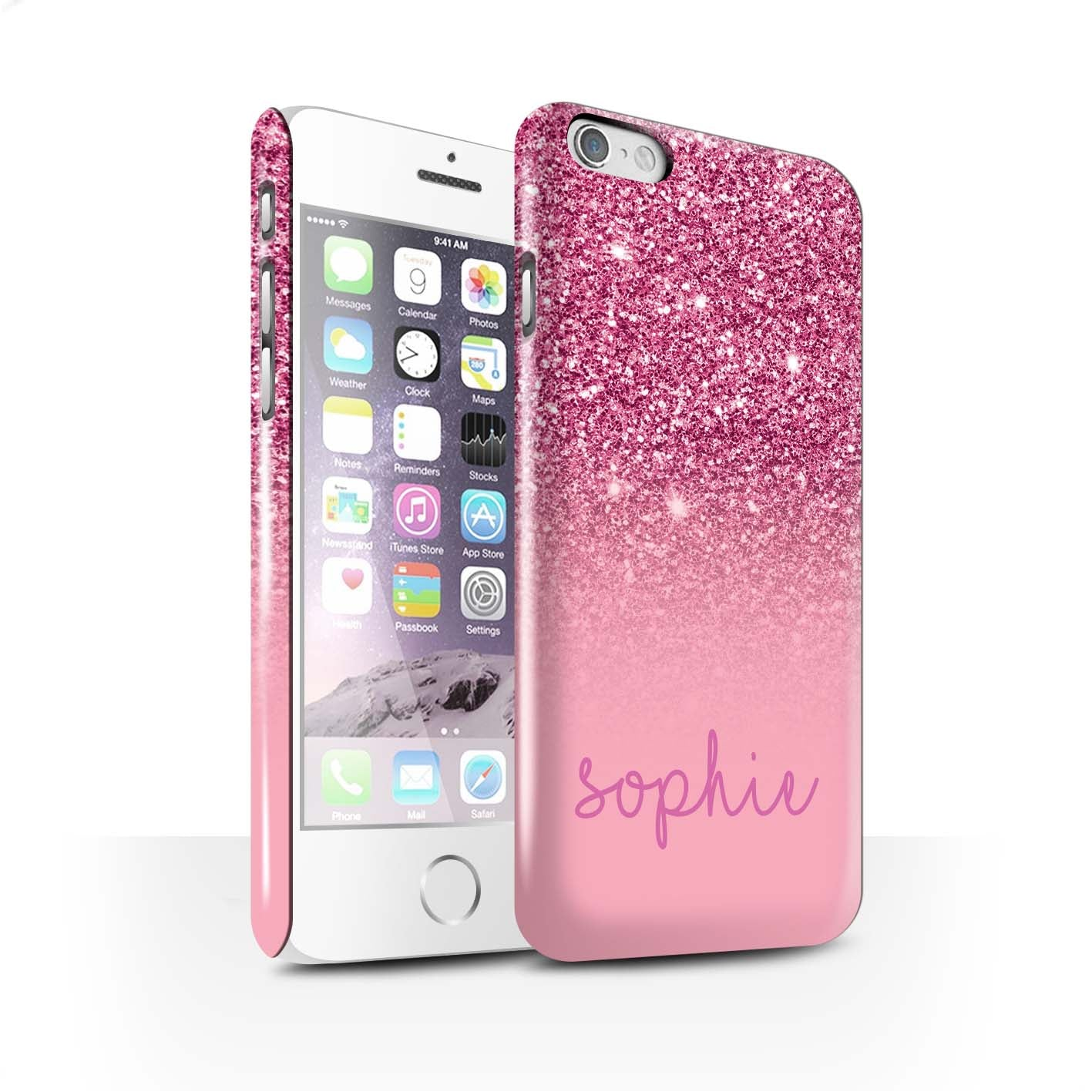 Custom Pink Glitter Effect iPhone Snap Case – Pianelle