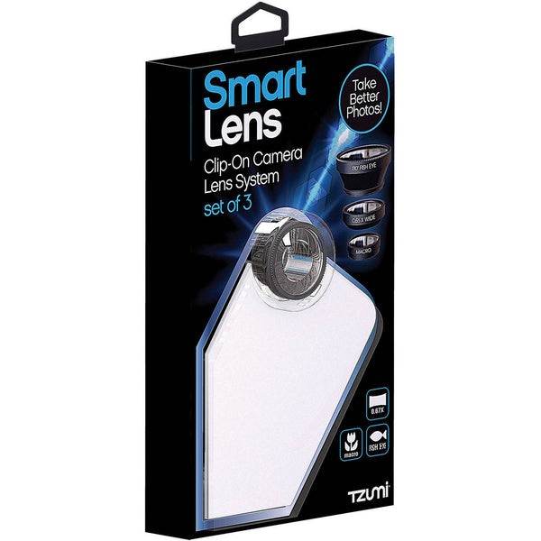 SmartLens 3-in-1 Clip-On Lens Kit for Smartphone Cameras