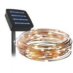 auraLED Solar Stands - Solar-Powered LED String Lights
