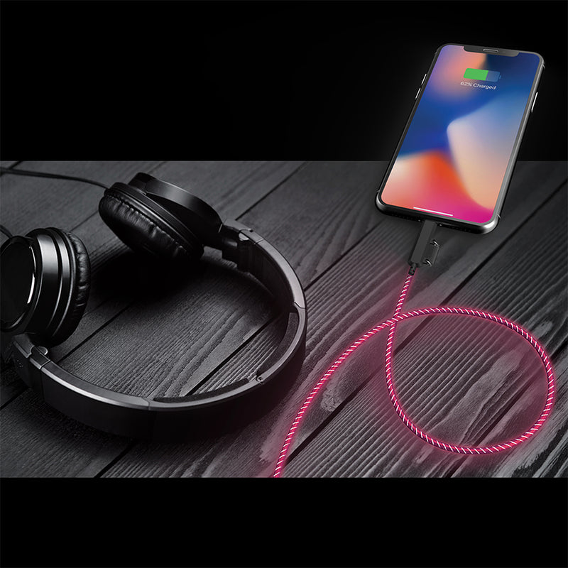 auraLED Glow 2-in-1 Micro-USB & Lightning Cable