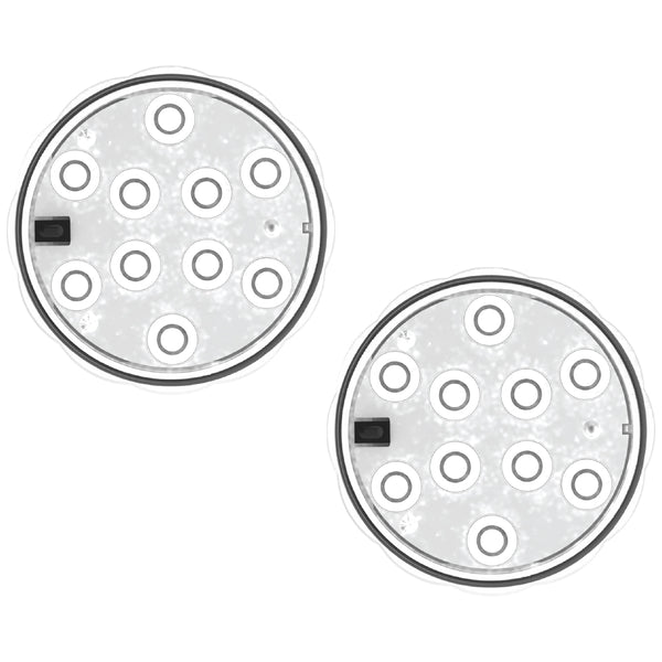 auraLED Submersible Waterproof Puck Lights (2-Pack)