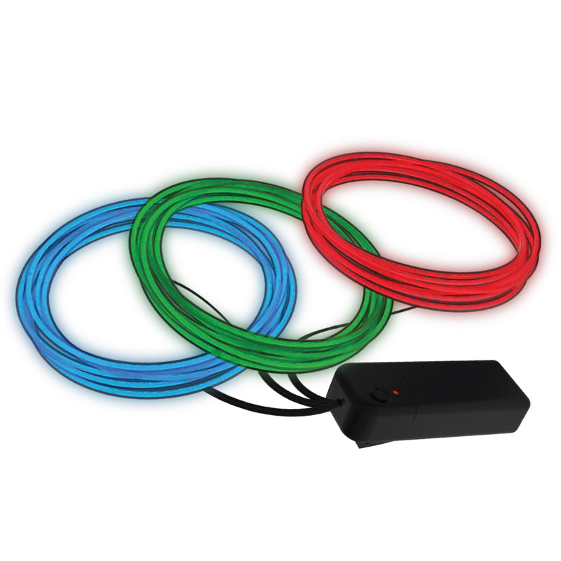 auraLED Glow 6.5 Ft. Flexible Waterproof Battery-Operated Neon Rope Lights (3-Pack)