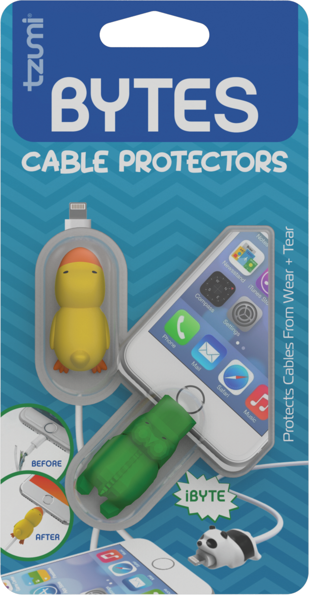 Bytes 2-Pack - Silicone Universally-Fitting Cable Protectors