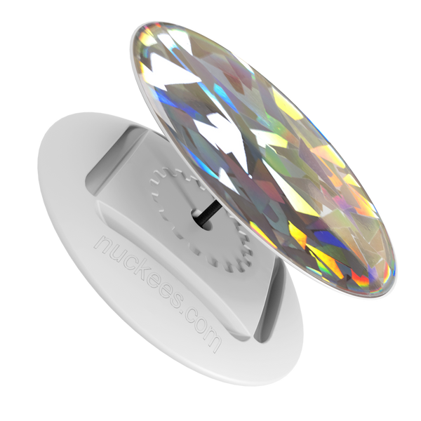 nuckees Gels Phone Grip - Diamond Crystal Hologram