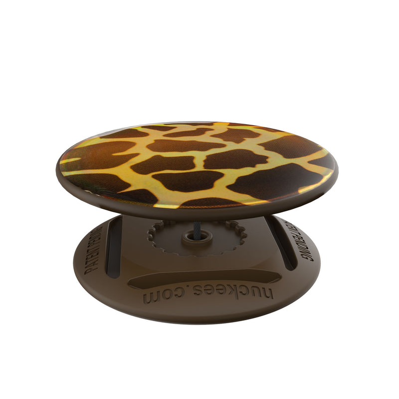 nuckees Wild Gel Phone Grip - Holographic Giraffe
