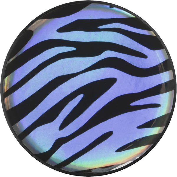 nuckees Wild Gel Phone Grip - Holographic Zebra