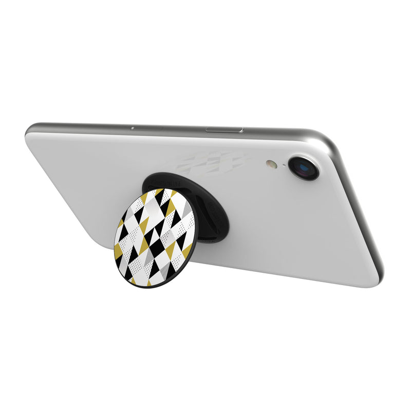 Original nuckees Phone Grip - Black, White and Gold Graphite