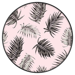 Original nuckees Phone Grip - Black and Pink Palm Leaves