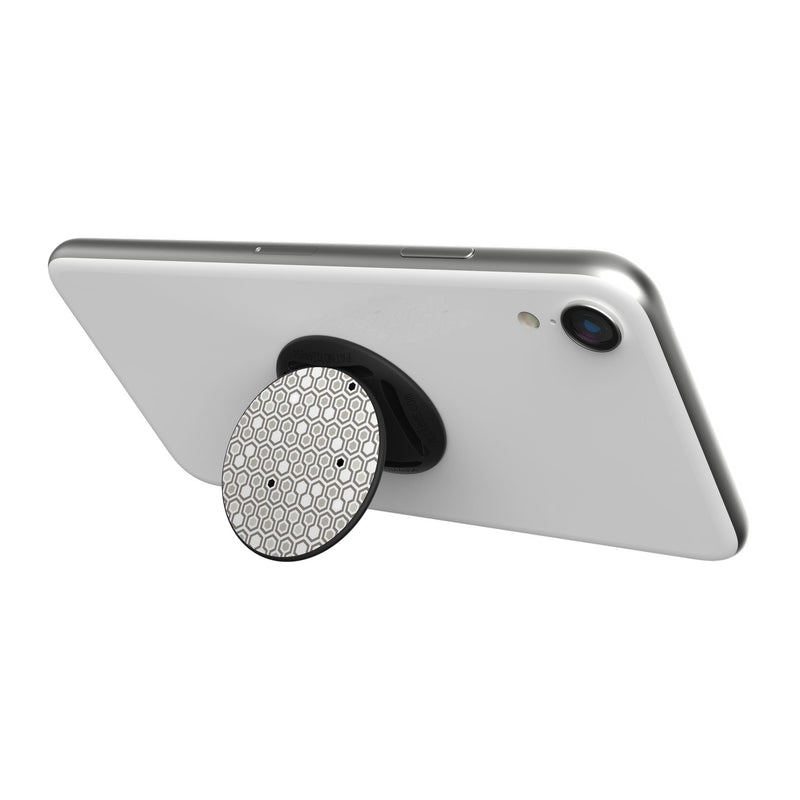 Original nuckees Phone Grip - Black and White Hex