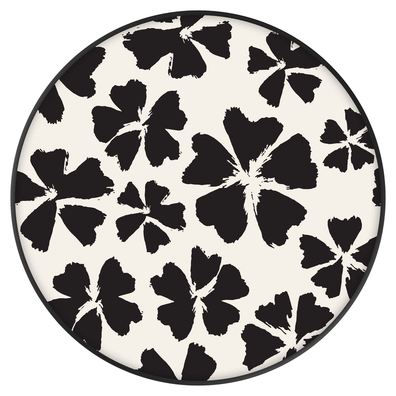 Original nuckees Phone Grip - Black and White Orchid