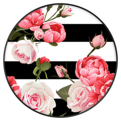 Original nuckees Phone Grip - Black and White Peony