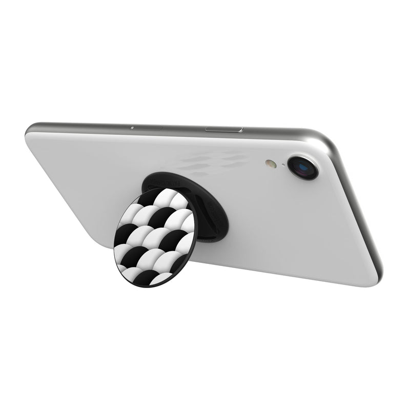 Original nuckees Phone Grip - Black and White Tiling