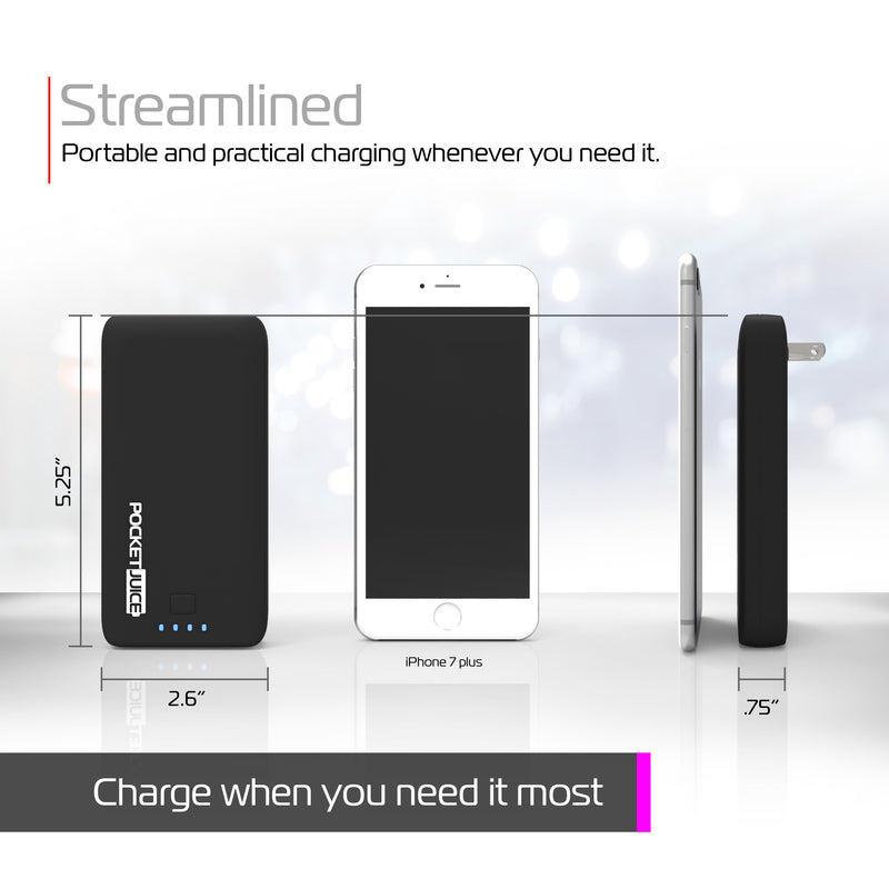 PocketJuice Endurance AC 8,000 mAh Portable Charger (Black)