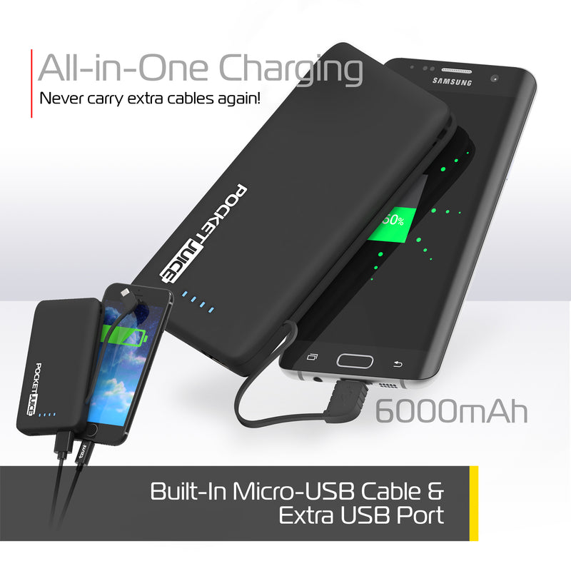 PocketJuice Endurance AC 6,000 mAh Portable Charger – Tzumi com