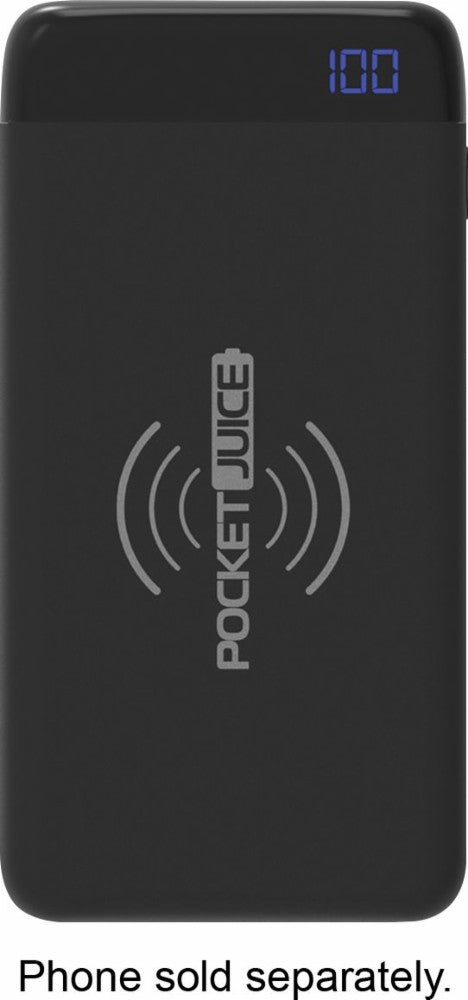 PocketJuice Wireless 10,000 mAh Portable Charger for Most USB-Enabled Devices