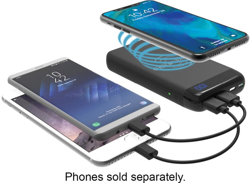 PocketJuice Wireless 8,000 mAh Portable Charger for Most USB-Enabled Devices