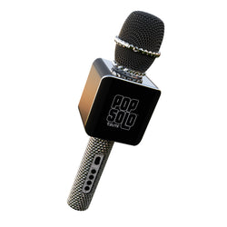 PopSolo Bling Bluetooth Karaoke Microphone with Rhinestone Shell