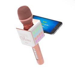 PopSolo Glow Bluetooth Karaoke Microphone with Dancing LED Effects