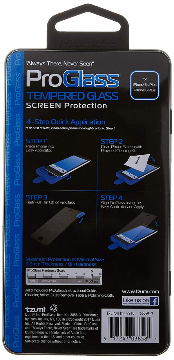 ProGlass for iPhone 6 Plus – Premium High Definition Tempered Glass Screen Protector with Application & Cleaning Kit