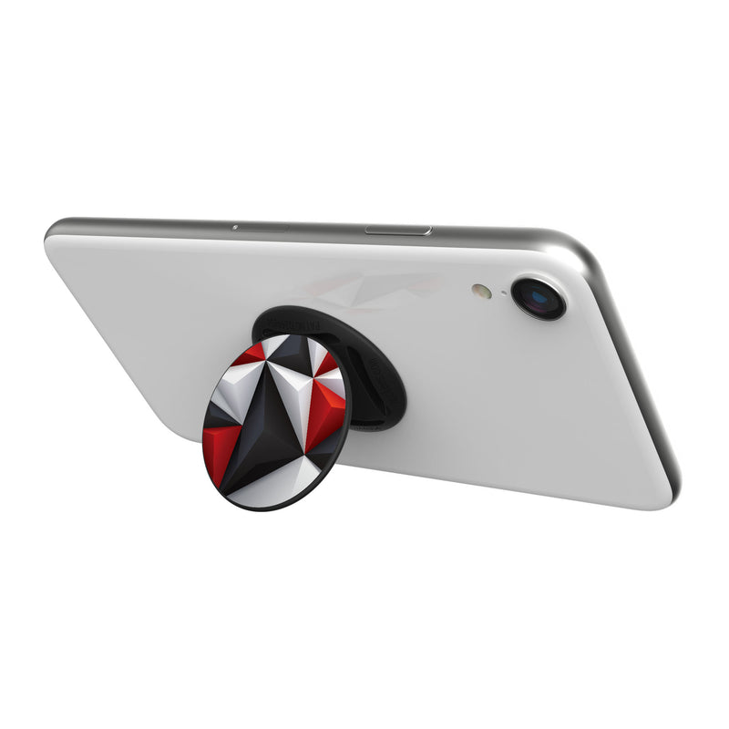 Original nuckees Phone Grip - Black and Red Geometric