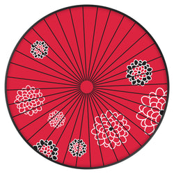 Original nuckees Phone Grip - Black and Red Parasol