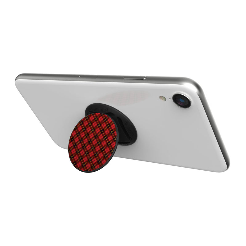 Original nuckees Phone Grip - Black and Red Plaid