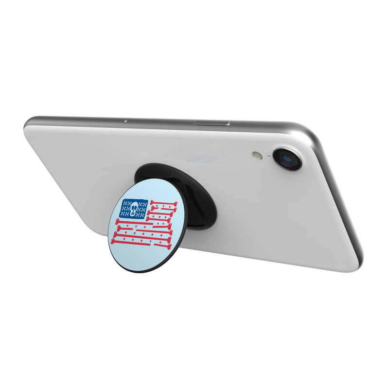 Original nuckees Phone Grip - Skull and Bones Flag