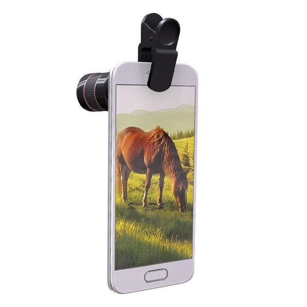 SmartLens 8x Zoom Telephoto Clip-On Zoom Lens for Smartphone Cameras