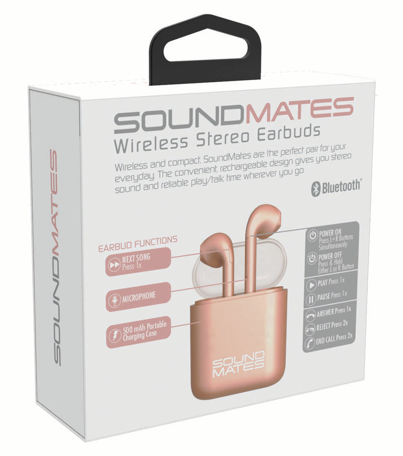 SoundMates Wireless Bluetooth Earbuds with Protective