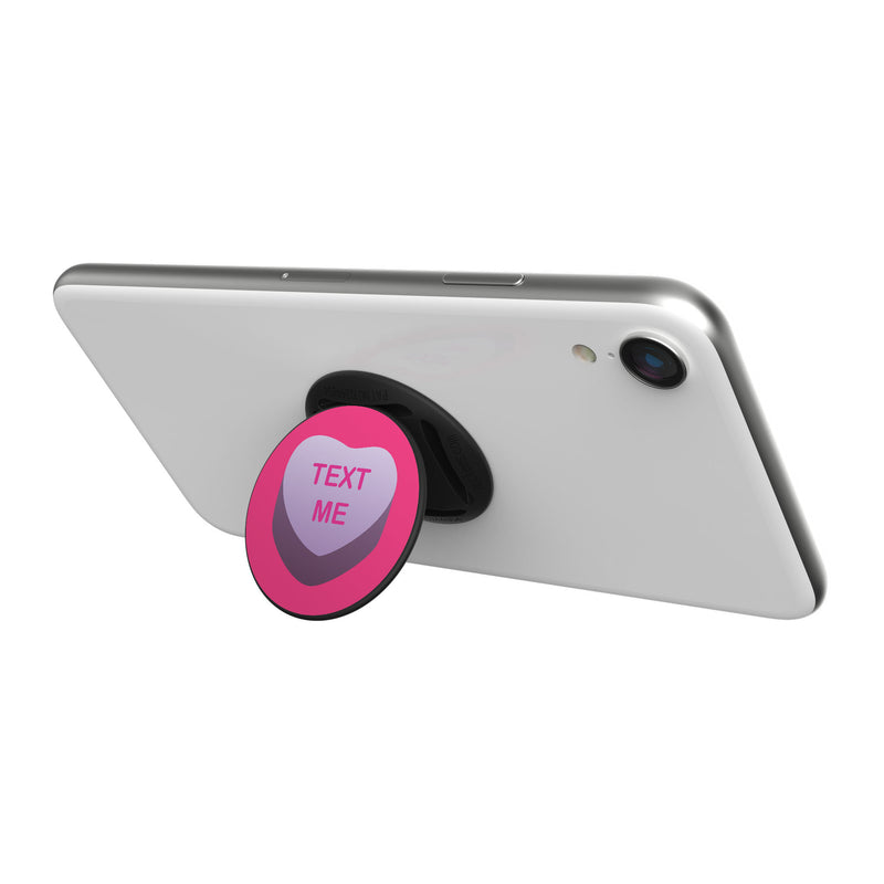 Original nuckees Phone Grip - TEXT ME Heart Candy