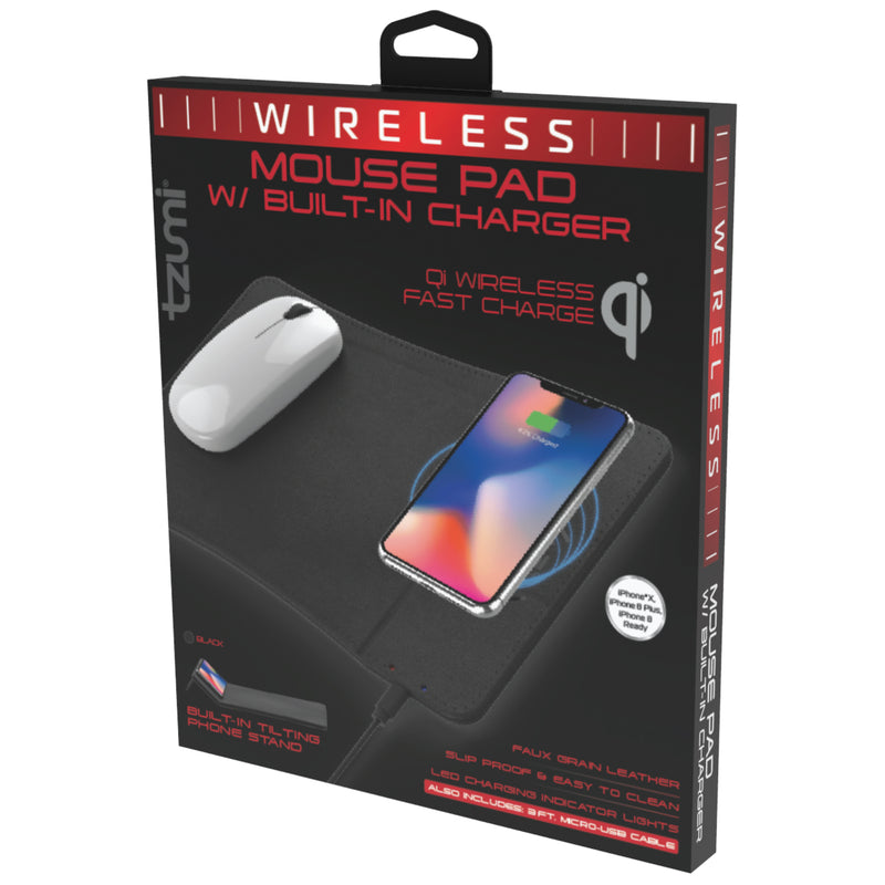 Wireless Charging Mouse Pad and Rechargeable Mouse – Tzumi com