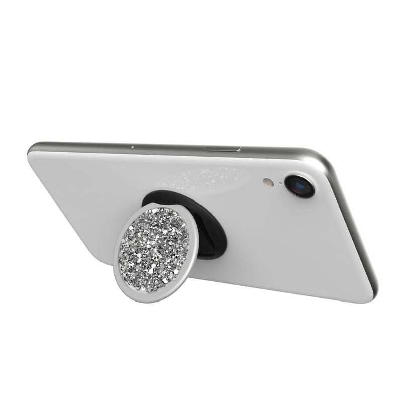 nuckees Trends Phone Grip - White Diamond Cluster