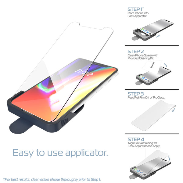 ProGlass for iPhone X/XS – Premium High Definition Tempered Glass Screen Protector with Application & Cleaning Kit
