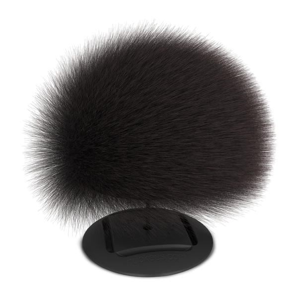nuckees Trends Phone Grip - Gray Pom