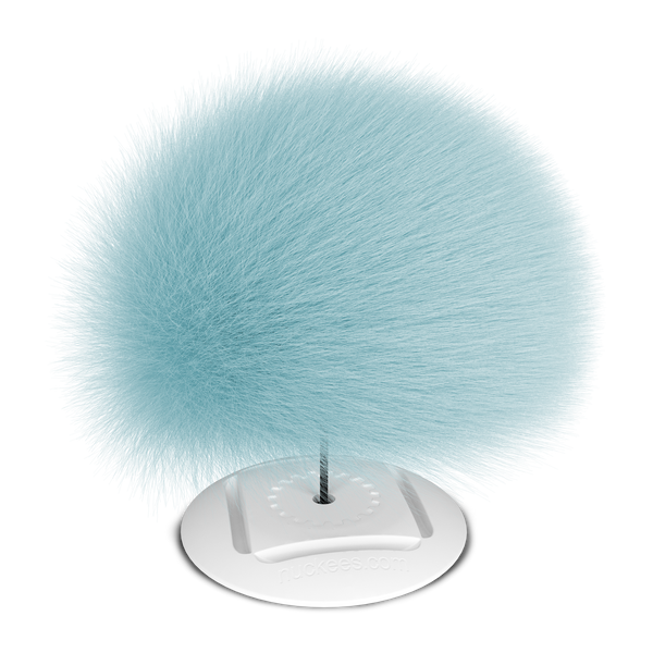 nuckees Trends Phone Grip - Sky Blue Pom