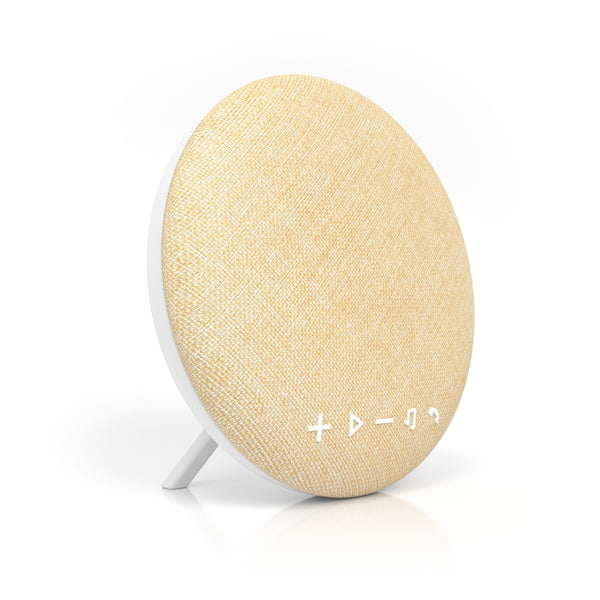 Deco Series Large Round Fabric Bluetooth Speaker (Beige)