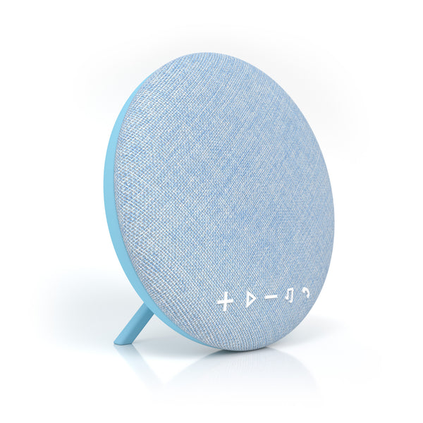 Deco Series Large Round Fabric Bluetooth Speaker (Blue)