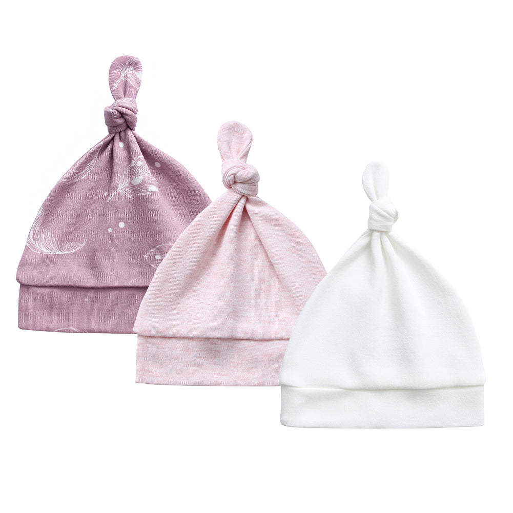 100% Organic Cotton - 3 Pack - Pink Melange, Mauve Feather and Off-White