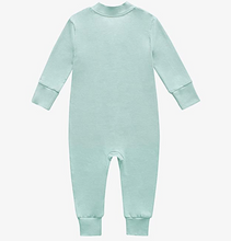 Load image into Gallery viewer, Bamboo & Organic Cotton Blend Zip Footless Pajamas - Seafoam