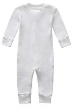 Load image into Gallery viewer, 100% Organic Cotton Zip Footless Pajamas - Off White