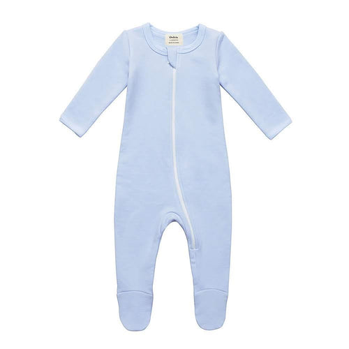 Fleece Footed Pajamas - Blue