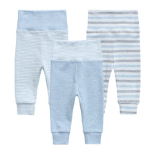 Load image into Gallery viewer, Organic Cotton +  Stretch  3 Pack Pants - Blue Stripe
